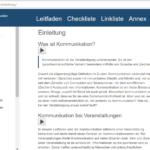 """Ein Screenshot des Leitfadens online. Zeigt das Inhaltsverzeichnis und den Textsusschnitt """"Einleitung""""."""